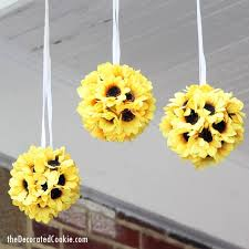 Sunflower Home Decor Easy Sunflower Kissing Balls The Decorated Cookie