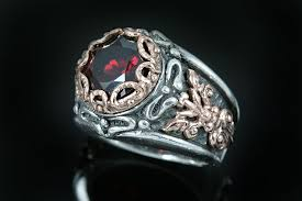 red jewelry rings images Catrina oxidized silver red garnet ring lr 068 jpg
