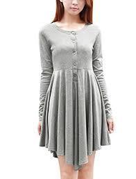 allegra k women u0027s long sleeves half placket asymmetric hem above