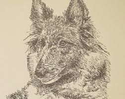 belgian sheepdog artwork tervuren etsy