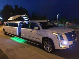 white cadillac escalade denver limo service sunset limo white cadillac escalade limo