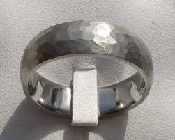 titanium wedding rings uk hammered titanium wedding ring online in the uk