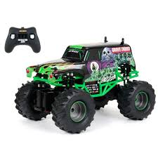 grave digger toy monster truck bright 1 24 rc monster jam grave digger truck