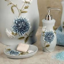 Gray And White Bathroom Accessories by Bathroom Madison Park Seaglass Blue Bathroom Accessories With 2