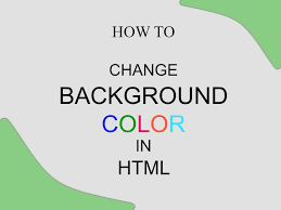 How To Change Background Color In Html Youtube Html Set Page Background Color