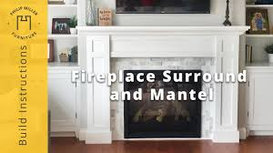 how to build a fireplace surround and mantel youtube