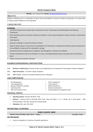 carpenter resume samples ishrat resume