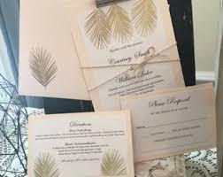 palm tree wedding invitations palm tree wedding etsy