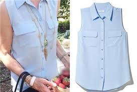 periwinkle blouse 188 equipment signature silk sleeveless blouse periwinkle