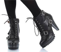 womens boots heels best 25 high heel combat boots ideas on ankle boot