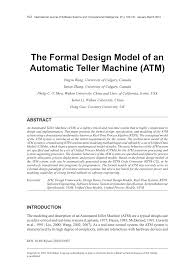 the formal design model of an automatic teller machine atm pdf