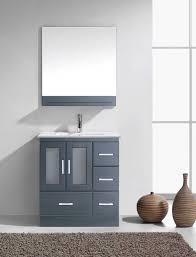 grey bathroom vanity cabinet virtu usa zola 30 single bathroom vanity cabinet set in grey
