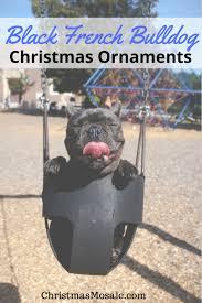 black french bulldog christmas ornament christmas mosaic