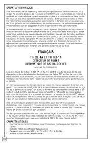 les halogenes français tif xl 1a et tif rx 1a detecteur de fuites automatique