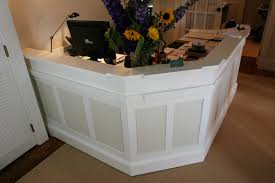Small White Reception Desk by Desks