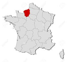 France Regions Map by Political Map Of France With The Several Regions Where Upper