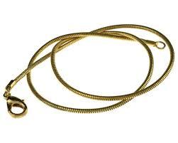 vintage necklace chains images Big bead little bead 1 vintage necklace chains gold plated snake jpg