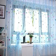 Pink Flower Curtains Blue Floral Curtains U2013 Teawing Co