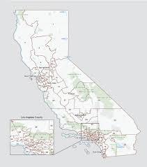 ca map california state legislature districts