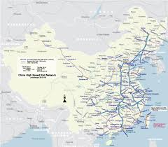Maps Of China by High Speed Rail Map Of China Johomaps