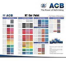 china auto paint color chart car 1k basecoat china 1k basecoat