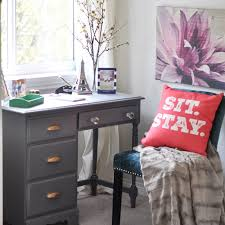 Small Desk Bedroom Charming Small Writing Nook With A Navy Desk In Bedroom And A