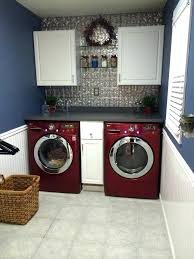 red washer and dryer set tin backsplash formica counters cherry lg