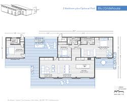 blu homes glidehouse 2 br pod floor plan modernprefabs