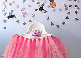 1st birthday girl 1st birthday girl baby tutu for high chair decoration and one