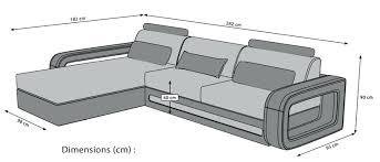 dimension d un canapé dimension canape 2 places cool pour en with 2 plas canape