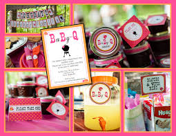 coed baby shower favors baby q coed baby shower bbq whole party pack pink orange