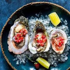 mignonette cuisine oysters with strawberry mignonette beyond the bayou food