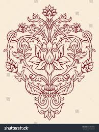 ornate lotus flower vector stock vector 122859682