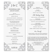 wedding program templates best photos of downloadable program templates wedding free
