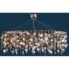 Pearl Chandelier Light Lighting 582sd5lsp 3c Crystal Midnight Pearl Oval Chandelier