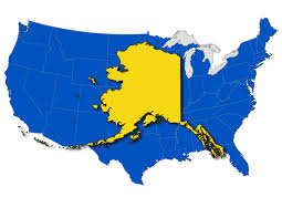 Map Size Comparison Alaska Map Compared To Us Map Alaska Over Us 34 With Map Alaska