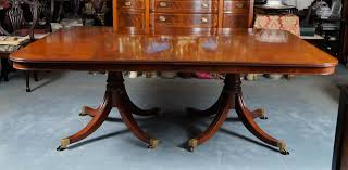 Dining Room Table Styles Sheraton Style Mahogany Triple Pedestal Monumental Dining Table