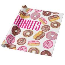 donut wrapping paper monsieur doughnut wrapping paper zazzle