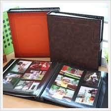self adhesive photo albums string binding leather album of black sheet self adhesive from