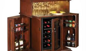 Wine Cabinet Furniture Refrigerator Bar Classic Home Bar Cabinets With Side Wine Storage Brown