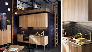 cuisine hyttan ikea cuisine éaire moderne avec faces hyttan et plans de travail