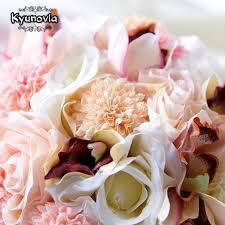 wedding flowers keepsake aliexpress buy kyunovia silk wedding bouquet wedding flowers