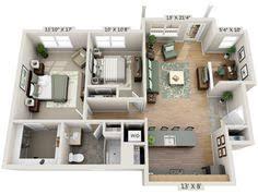 Layout Apartment 50 One U201c1 U201d Bedroom Apartment House Plans Studio Apartment Floor