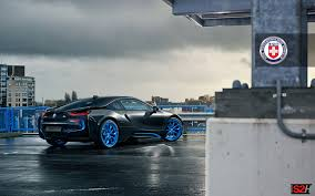 Bmw I8 With Rims - bmw i8 with hre s201h in frozen ilectric blue hre performance wheels