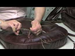 how to make leather chair cushions youtube