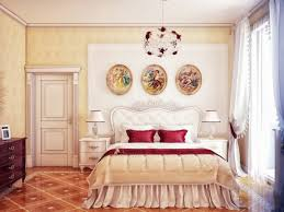 Home Design  Cream Red Bedroom Design For Romantic Queen Bed With - Red and cream bedroom designs