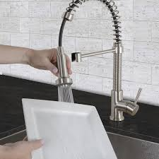 vigo kitchen faucet vigo vg02001st 18 1 2 h pull out spray kitchen faucet in stainless