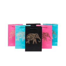 metallic gift bags metallic elephant gift bags set of 6 assorted