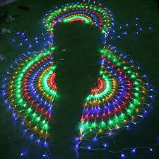 3m rgb 3peacocks led outdoor indoor led string curtain light