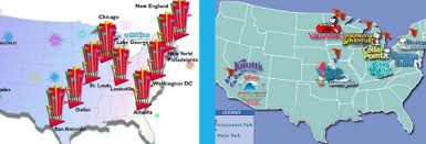cedar fair parks map six flags vs cedar fair theme park showdown coastercritic